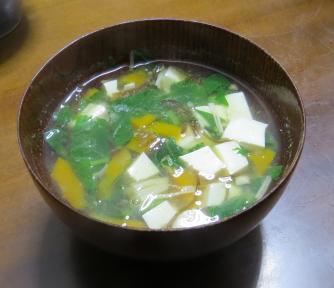 小カブの葉入りスープ