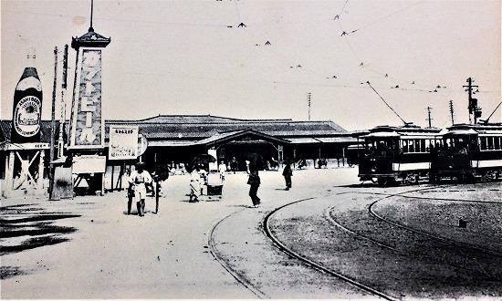 ⑨明治時代名古屋駅前