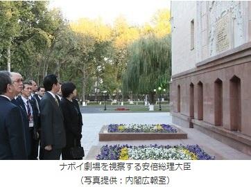 2019-1-30安倍首相ウズベクスタン訪問2