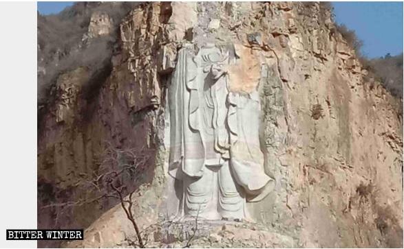 2019-3-7シナの摩崖仏破壊