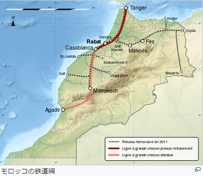 2019-3-11モロッコの鉄道網