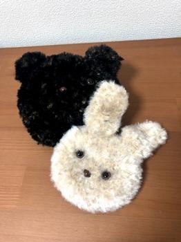 アニマルポーチ(うさぎ&くま)