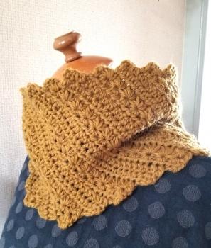 ほし編みと中長編みのスヌード2