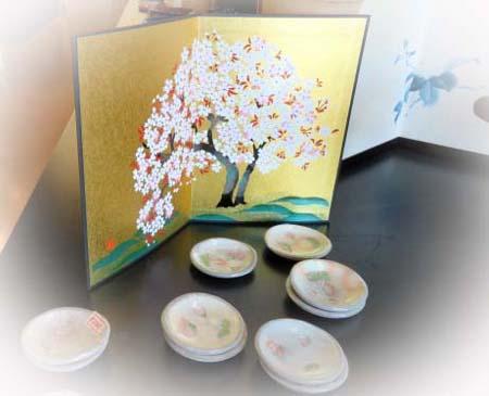 0317桜豆皿