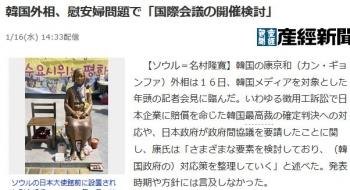 news韓国外相、慰安婦問題で「国際会議の開催検討」