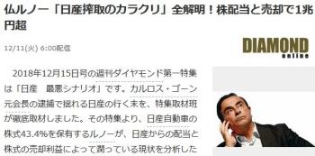 news仏ルノー「日産搾取のカラクリ」全解明!株配当と売却で1兆円超