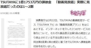 newsTSUTAYAに1億1753万円の課徴金 「動画見放題」実際に見放題だったのは1~2割