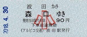 波田→森口(小)