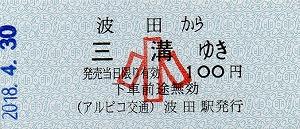 波田→三溝(小)