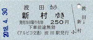 波田→新村