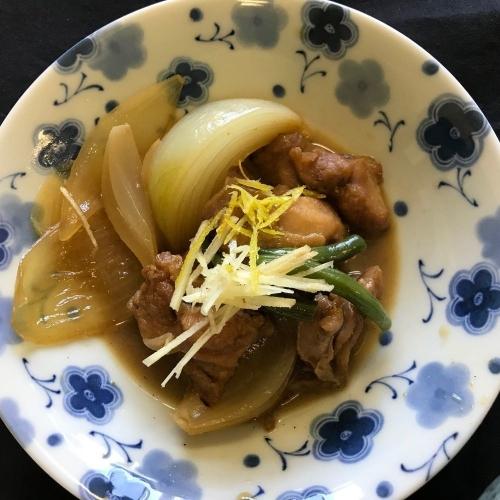 鶏肉と玉葱の柚子風味煮
