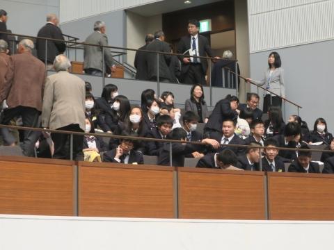 「高校生達が議会傍聴に来てくれました!」①