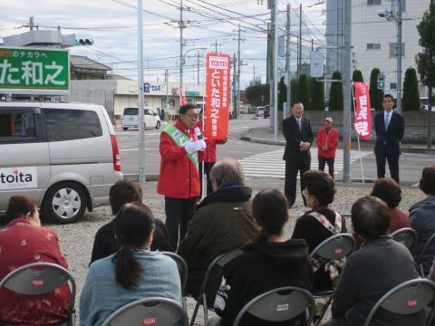 「選挙戦6日目!」辻立ち&街頭演説⑨