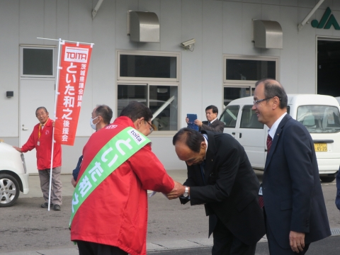 「選挙戦6日目!」辻立ち&街頭演説⑰