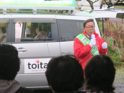 「選挙戦7日目!」街頭演説⑫