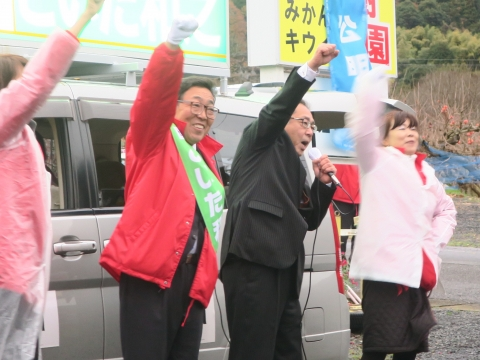 「選挙戦7日目!」街頭演説⑲