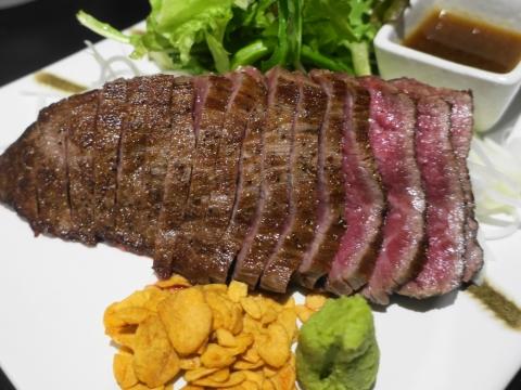 「常陸牛のステーキ!」