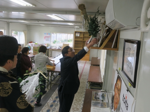 「神棚遷座式並びに選挙当選奉告祭」④