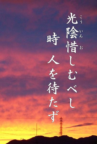 600写経会 絵葉書作成ファイル 67 禅語 光陰可惜2