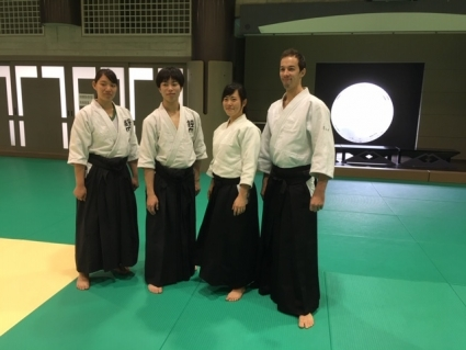 松岡宏美氏四段(合気道高城道場)演武チーム