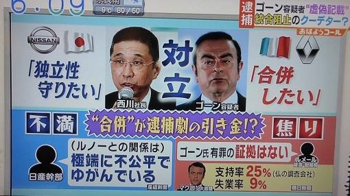 12 ゴーン逮捕 クーデター? 朝日系