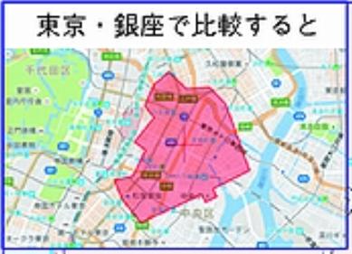 修 辺野古新基地 銀座と比較