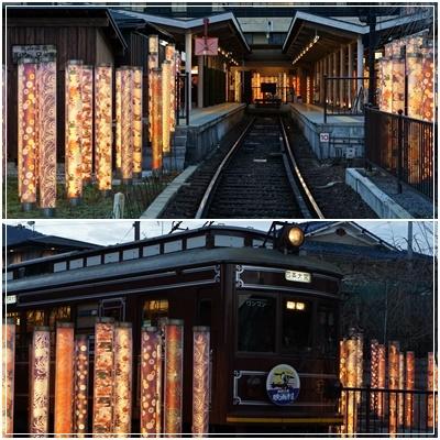 キモノフォレストと電車