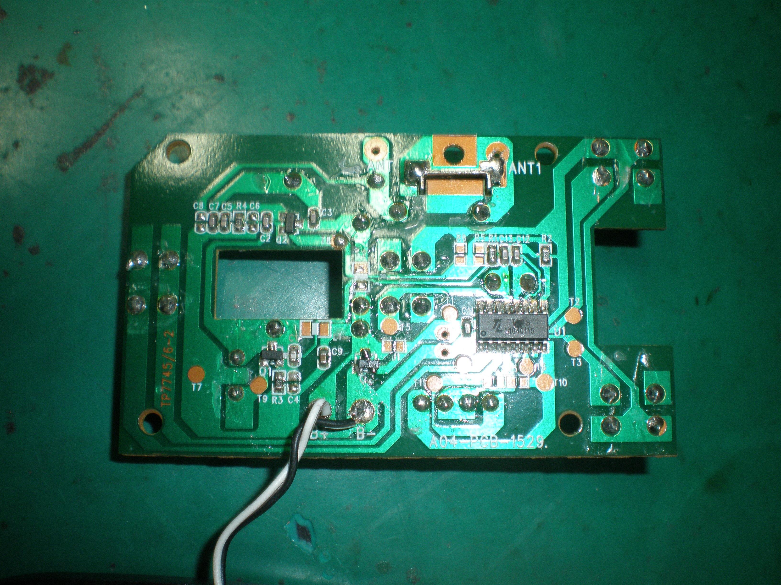 2.4GHzラジコン修理事例(長崎)送信機1