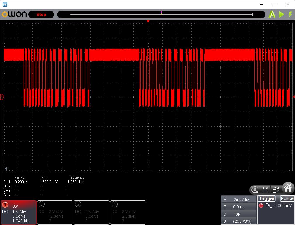27MHzFM方式トイラジ(エンコード波形)