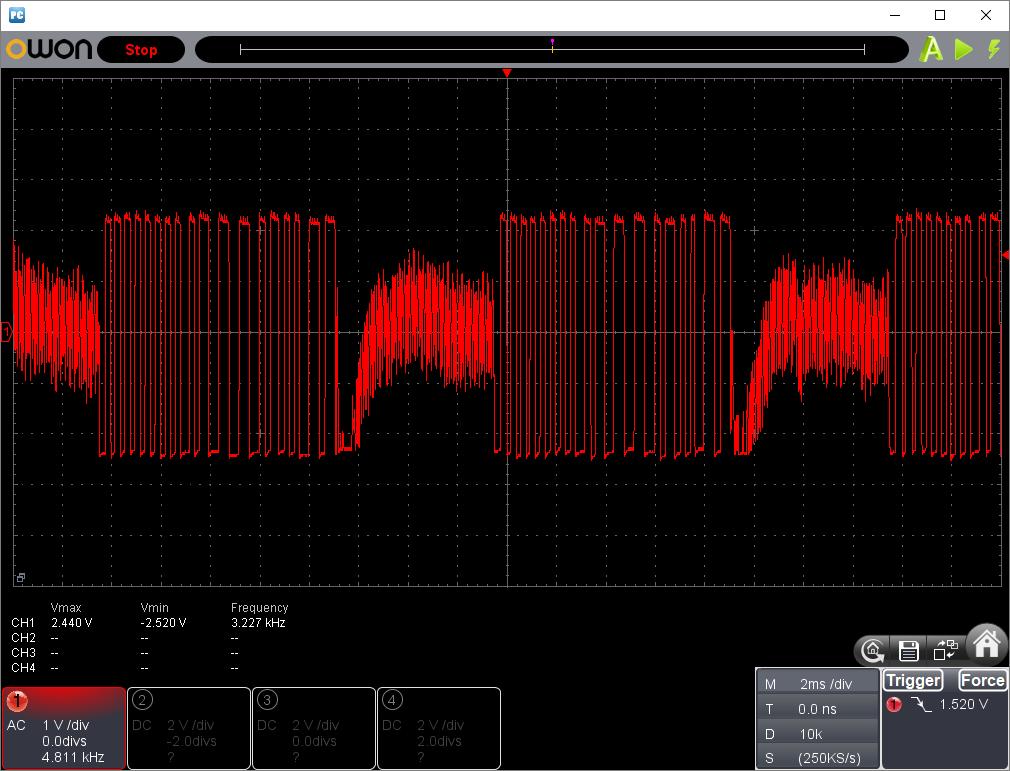 27MHzFM方式トイラジ(デコーダ入力波形)