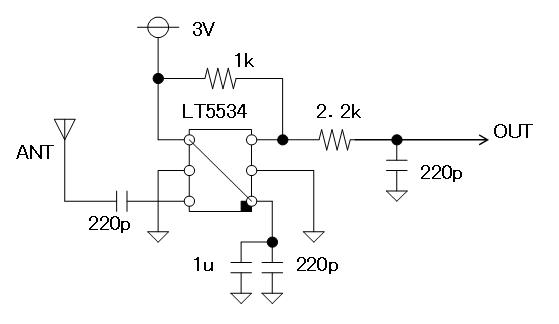 27MHz~2400MHzRFチェッカー回路図