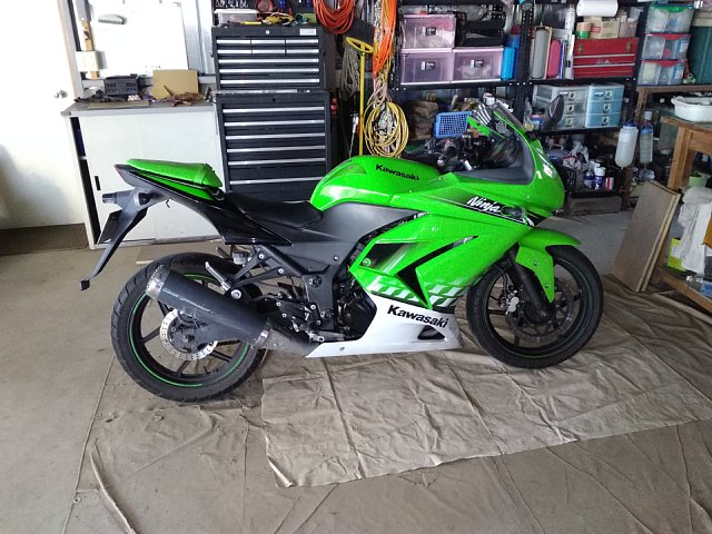 Ninja250R タイヤ交換