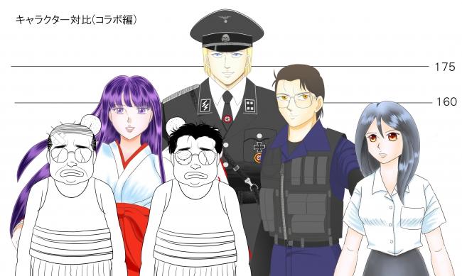 キャラクター対比(コラボ編)