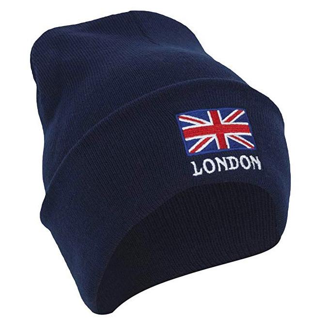 【London】London ユニオンジャック ニット帽 ネイビー