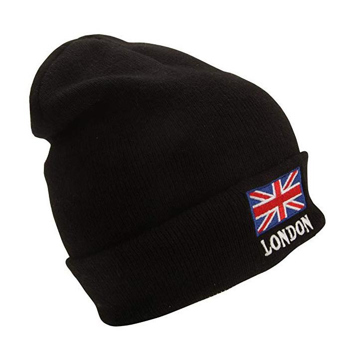 【London】London ユニオンジャック ニット帽 ブラック