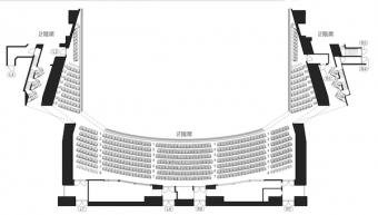大阪フェスティバルオール2階座席表