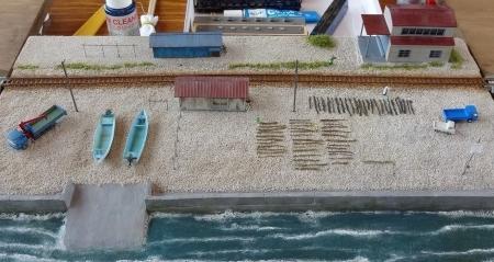 浜で昆布干し