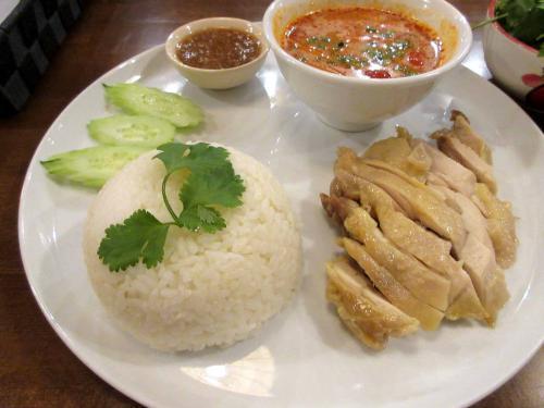 鶏肉と蒸しご飯