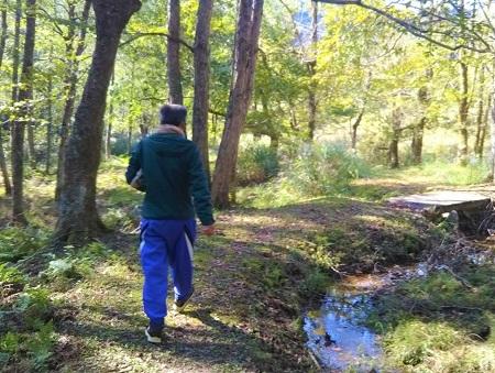 森の和み(秋)お父さん