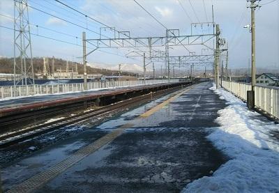 1月 ゆるぶ 駅 雪