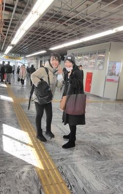 1月 ゆるぶ 石山駅 姉妹
