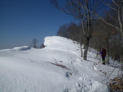 頂上には雪庇
