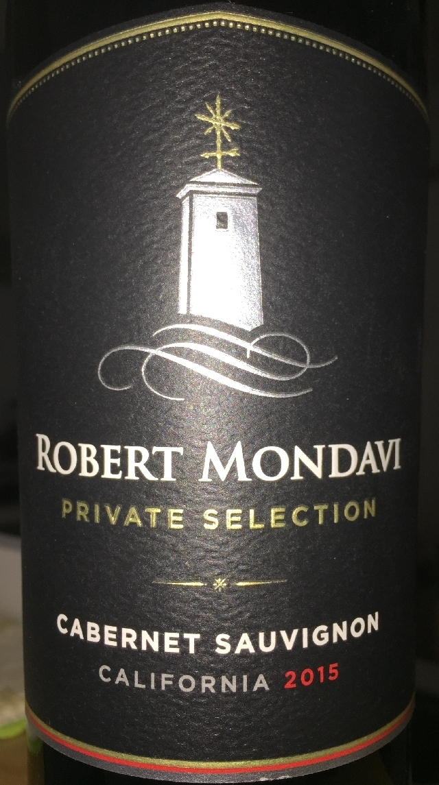 Robert Mondavi Private Selection Cabernet Sauvignon 2015