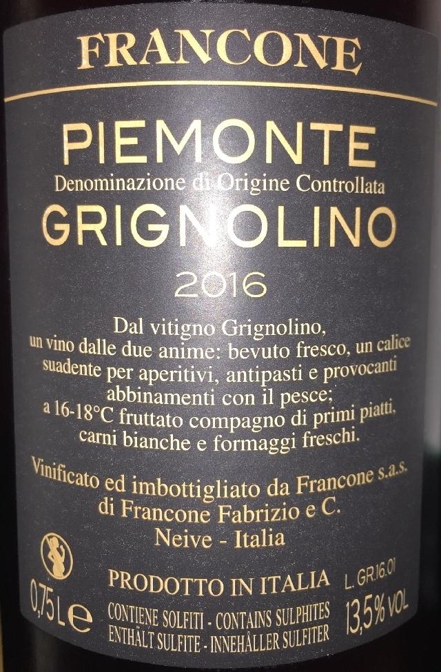 Piemonte Grignolino Francone 2016 part2