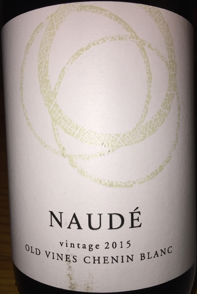 Naude Old Vines Chenin Blanc 2015 part1