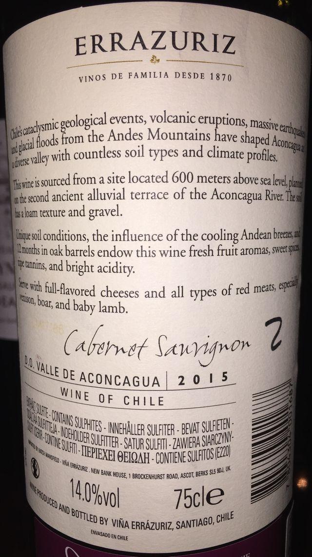 Aconcagua Alto Cabernet Sauvignon Errazuriz 2015 part2