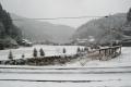 雪の真国川