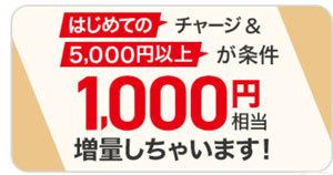 PayPayで1,000円増量
