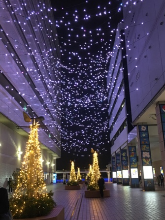 横浜駅のイルミネーション