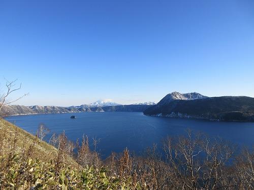 摩周岳登山道第一展望台ルート中摩周岳遠景